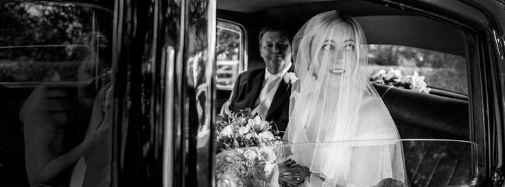 Lovely photo of bride arriving at church. Photography by Fiona Elizabeth Photography