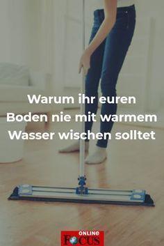Grober Putz-Fehler: Warum Du den Boden nie mit warmem Wasser wischen solltet - Video-#boden #fehler #grober #warmem #warum #wasser #wischen