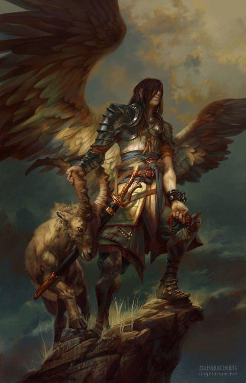 azazel angel of sacrifices by peter mohrbacher Digital Art