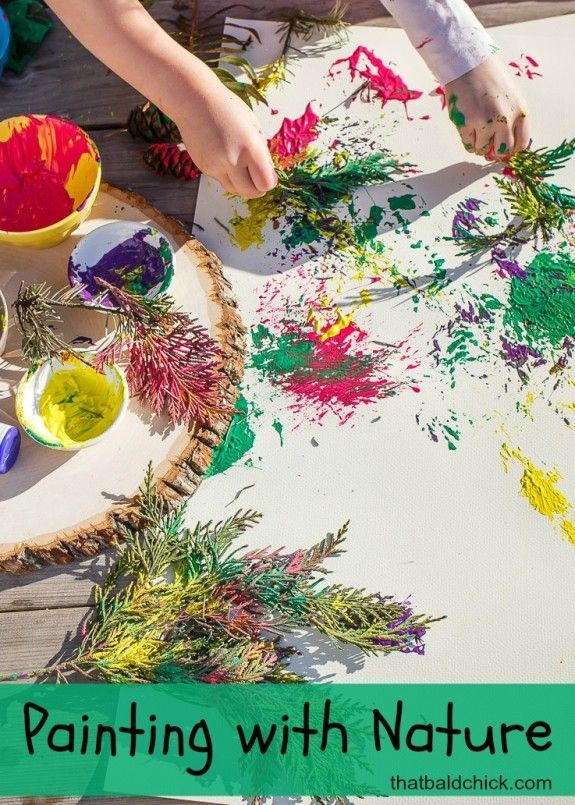 Have fun painting with nature @thatbaldchick
