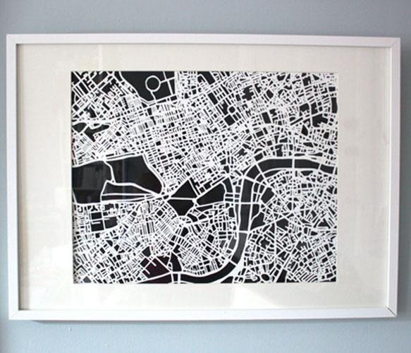 Map art - Wall decor
