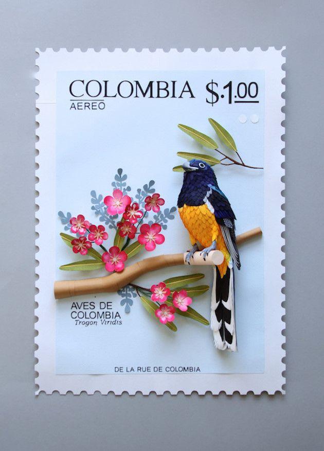 Bird Stamps - Fantastische 3D-Vogel-Briefmarken