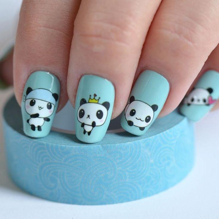 Марта, прикольные рисунки животных на ногтях