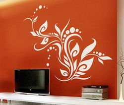 T.V wall with this Orange colour represents enthusiasm, fascination, happiness, creativity, determination, attraction, success, encouragement, and stimulation.