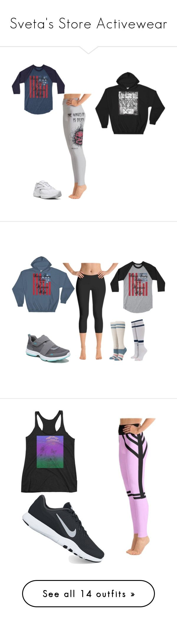 """Sveta's Store Activewear"" by svetasstore-14992183255 on Polyvore featuring Rykä, Stance, NIKE, New Balance, Altra, Pressbox, Diadora, Knixwear, Skechers and vintage"