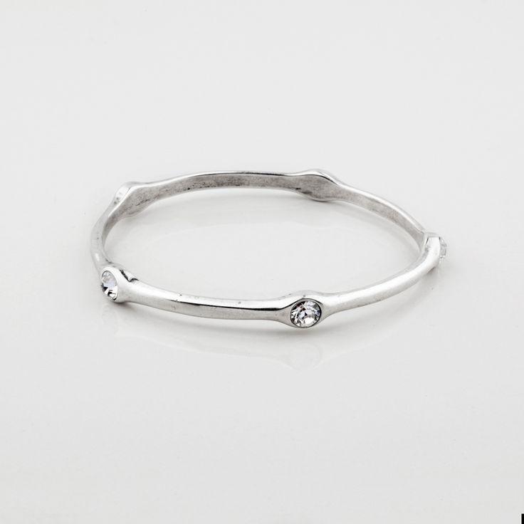 Miglio Designer Jewellery - Classic Swarovski Crystal Encrusted Burnished Silver Bangle, R499.00 (http://shopza.miglio.com/shop-by-product/classic-swarovski-crystal-encrusted-burnished-silver-bangle/)
