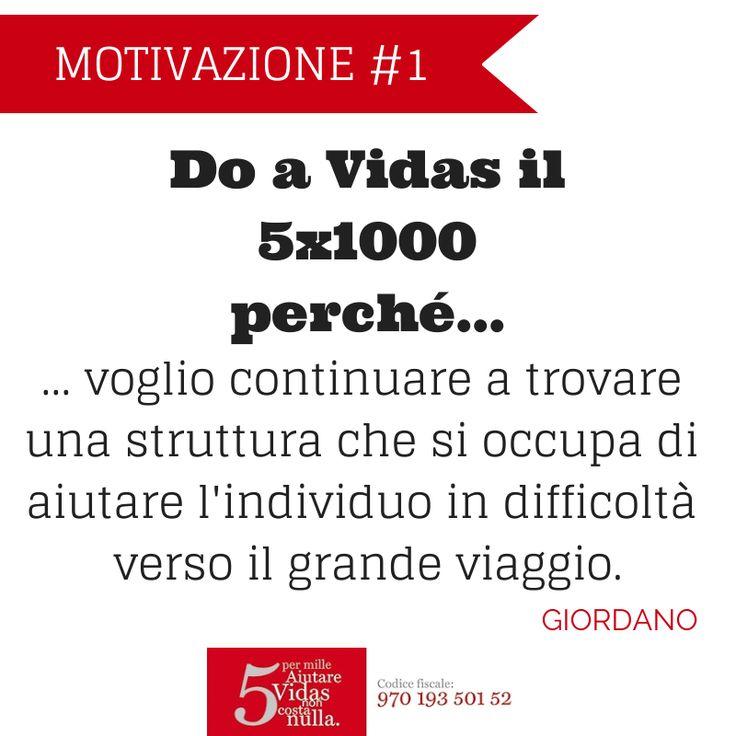 Do il #5x1000 a Vidas perché... la motivazione di Giordano