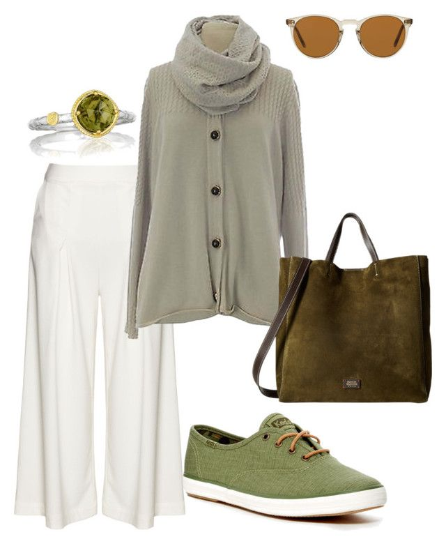"""plus size fyodora"" by aleger-1 on Polyvore featuring Manon Baptiste, Marina Rinaldi, Keds, Tacori, Frances Valentine and Oliver Peoples"