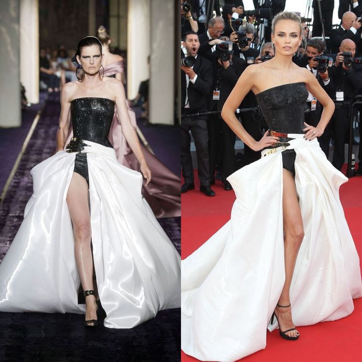 Natasha Poly in Atelier Versace fall 2014 in Cannes