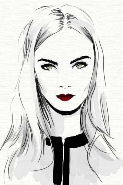 Os desenhos fashion de Mônica Ruf   Just Lia