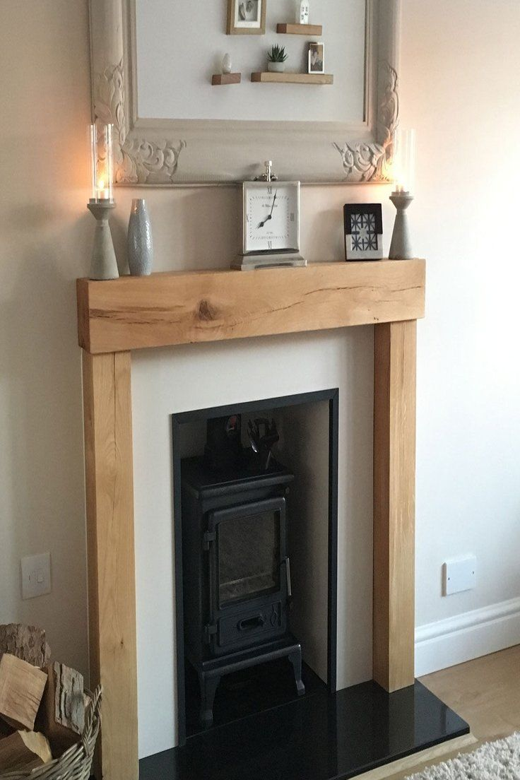 Oak Beam Fire Surround Wooden Fireplace Mantelpiece Upstands Log Burner Mantle Ebay Wooden Fireplace Timber Beams Fireplace