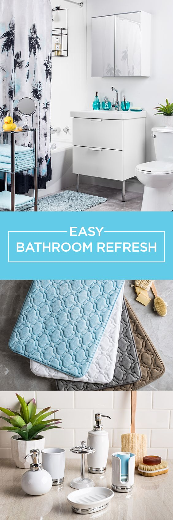 Freshening up your bathroom can quick, easy and - best of all - inexpensive!