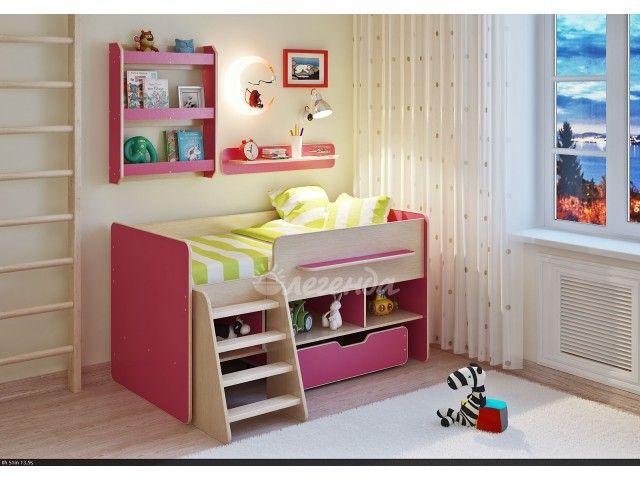 9860 Детская кровать,Легенда 6 с полками