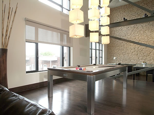 Canada Billiard La Condo Stainless 8u0027 Dining Pool Table