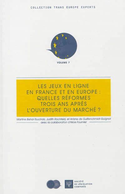 """306.48 BEH - Les jeux en ligne / M. Behar. """"Volume 7 Par une loi du 12 mai 2010, la France, fortement incitée par les institutions européennes et notamment par la Cour de Justice de l'Union européenne, a libéralisé le secteur des jeux en ligne. Trois ans après cette ouverture, un rapport, rédigé par des membres du réseau Trans Europe Experts avec la participation des représentants du secteur des jeux en ligne pouvait s'avérer utile."""""""