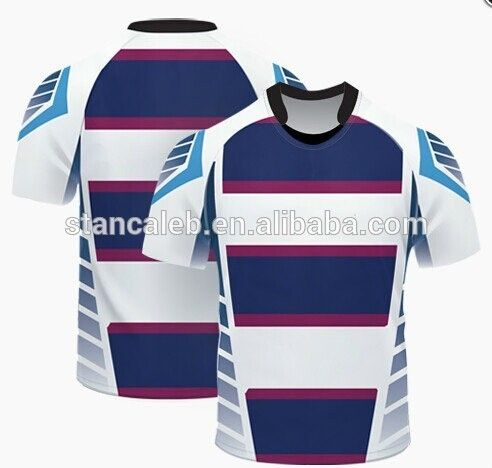 Sublimation rugby jersey cheap rugby sports clothing made in china #rugby_clothing, #Men