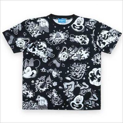 東京ディズニー カタカナ ロゴ セリフ Tシャツ 黒 M〜L
