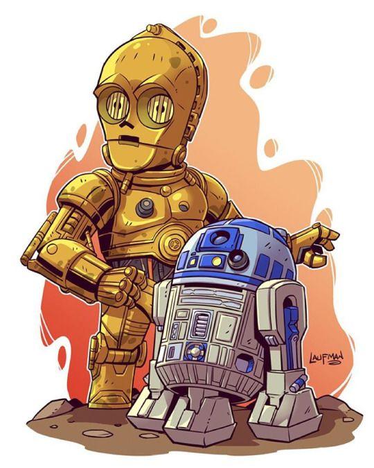 C3PO: viviremos juntos toda la vida.R2D2 vuelve aquí uufffff ya lo e perdido