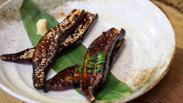 Miso-grilled eggplant from Destination Flavour Japan