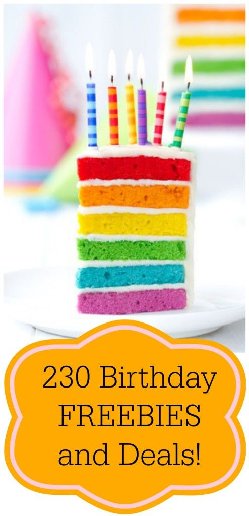 Huge List of Birthday Deals and Freebies!