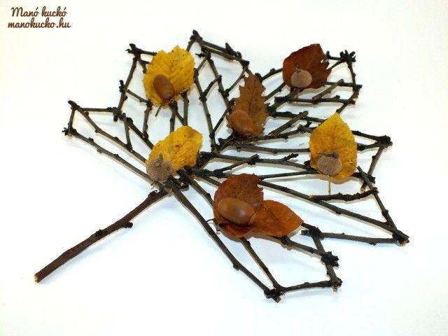 Őszi dekoráció faágakból - Manó kuckó