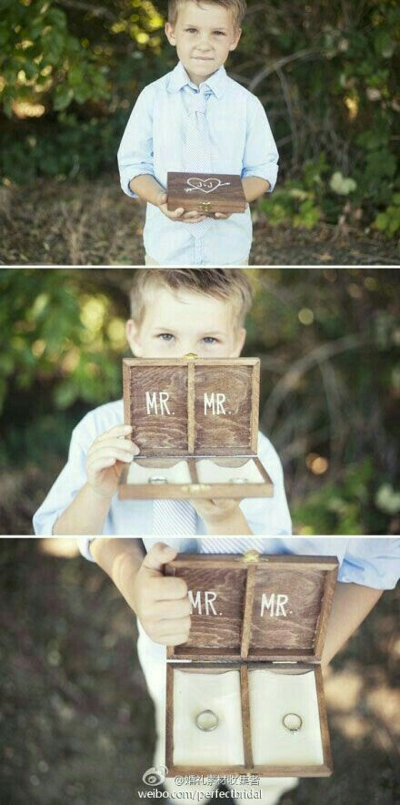 Ring bearer for Mr. & Mr.