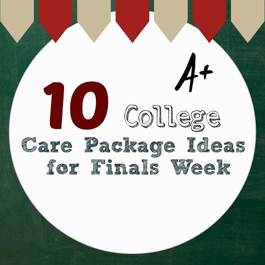 Hard to believe, but it's almost finals week for most college students! Make the time a little easier for them with this collection of care package ideas.