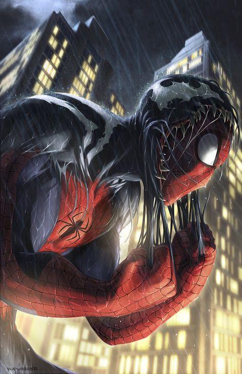 #Spiderman #Fan #Art. (Spiderman Venom) By: Totmoartsstudio2.