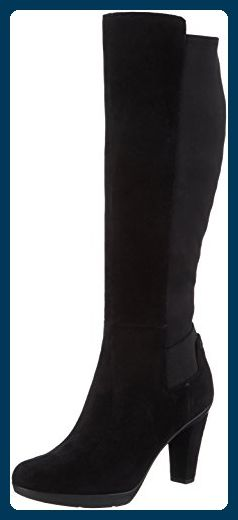 Geox Damen D Inspiration Stiv D Langschaft Stiefel, Schwarz (BLACKC9999), 38 EU - Stiefel für frauen (*Partner-Link)