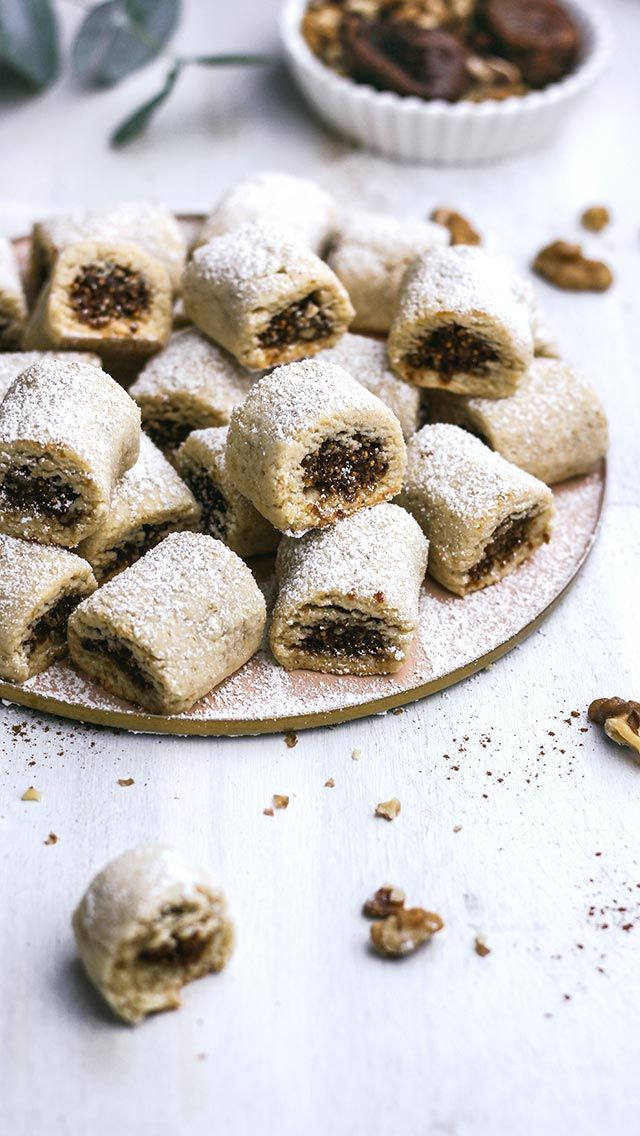 Christmas Cookies Filled with Figs, Oranges, and Walnuts