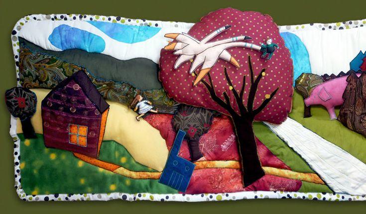 Raconte-Tapis d'après Helena, Ivan et les oies, de Muriel Bloch, illustré par Régis Lejonc, Didier jeunesse, 2002, coll. A petits petons