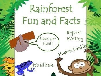 Fun rainforest activities that includes an interactive student booklet, 28 fact…