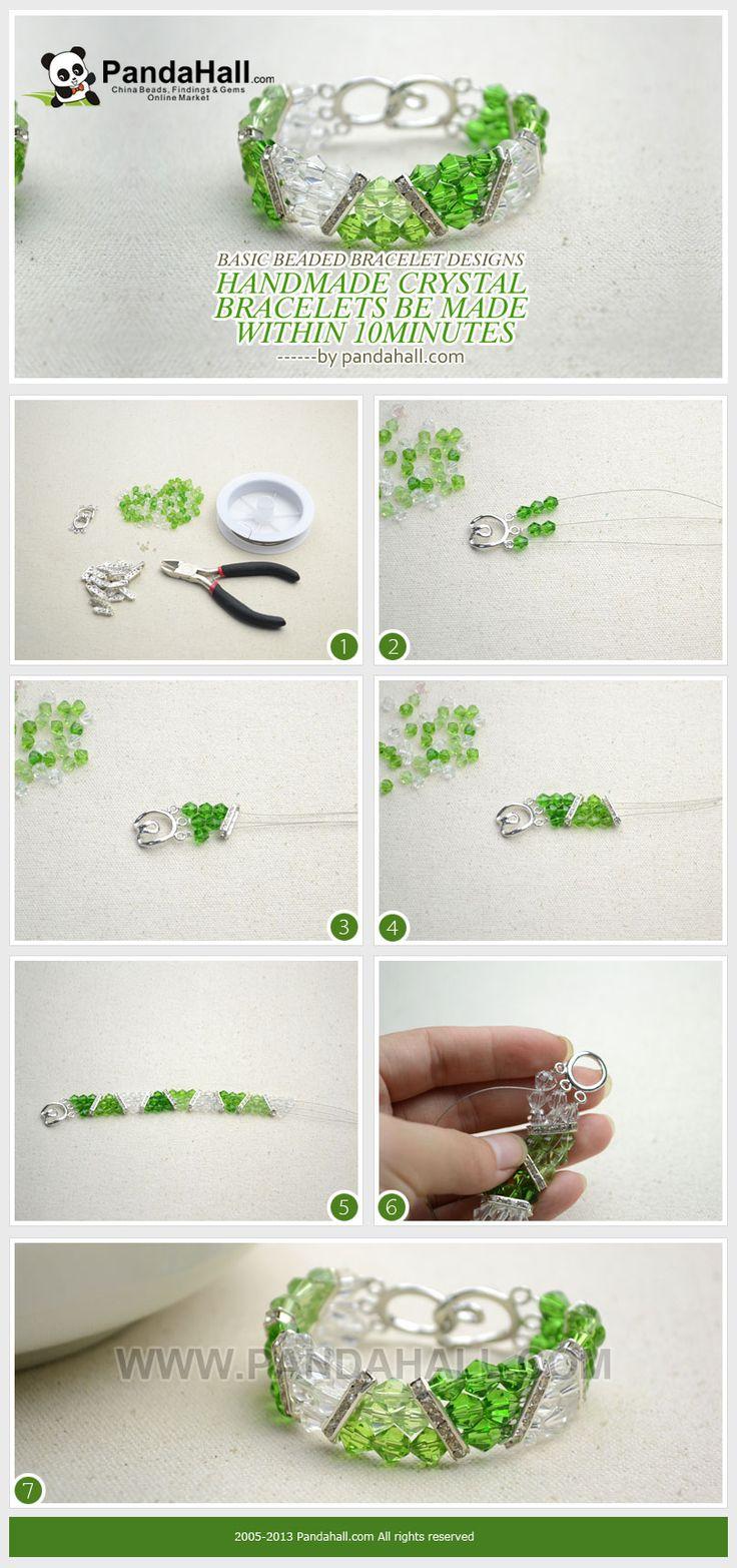 Basic Beaded Bracelet Designs - Handmade Crystal Bracelets Made within 10minutes from pandahall.com