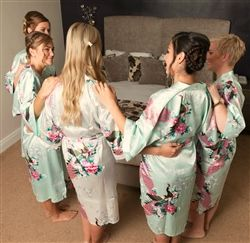 Mint robes are trending for weddings 2015 and 2016.  Exclusive to WowWee.ie