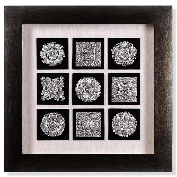 FLORA Tablou polirasina 90x90 cm Tablouri, Rame și Floral