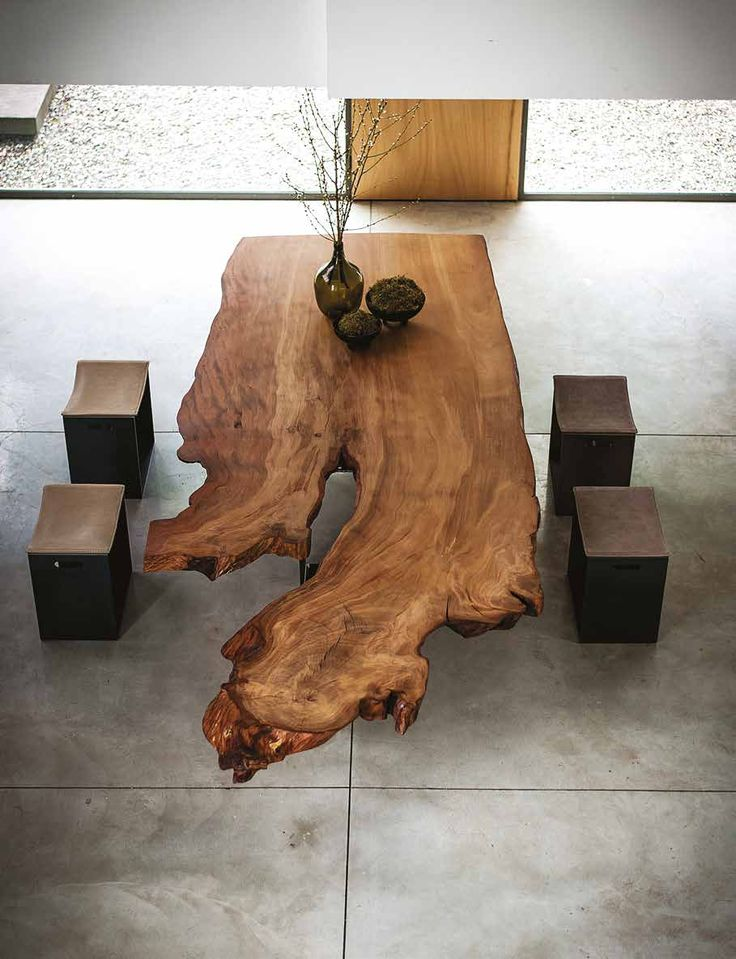 The Auckland Table By Riva 1920 Is Crafted Using Kauri Wood Specially Harvested For Company