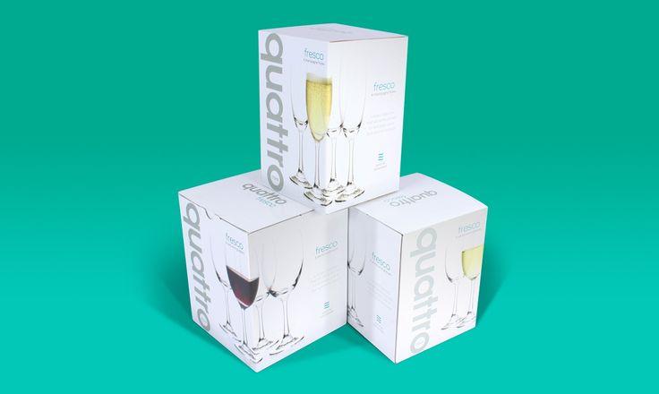 Packaging for Stevens Glassware range - Onfire Design