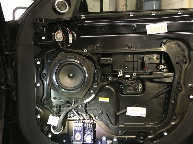 Focal car audio in Range Rover Sport 2014 2x Focal PS165 compo set met deur isolatie