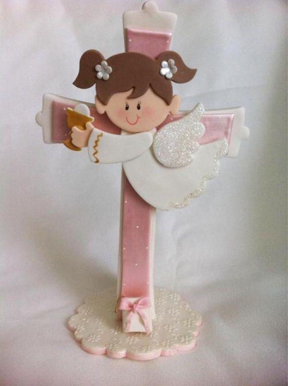 Girl Communion Cake topper. Communion cake by MimosasDesigns