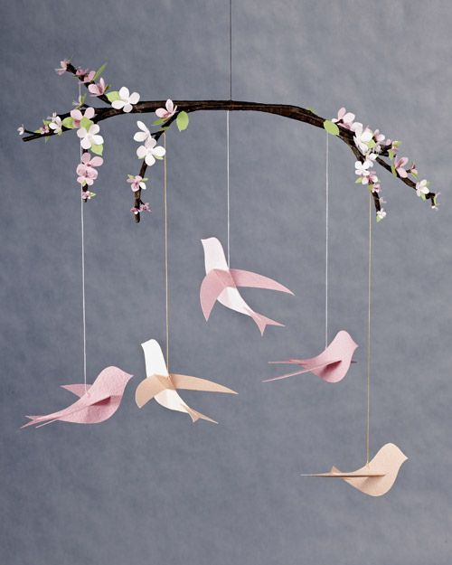 A collection of paper birds with instructions and templates - flat, 3D, origami - some cute ones here! #PaperCrafts #Birds #Crafts - pb†å