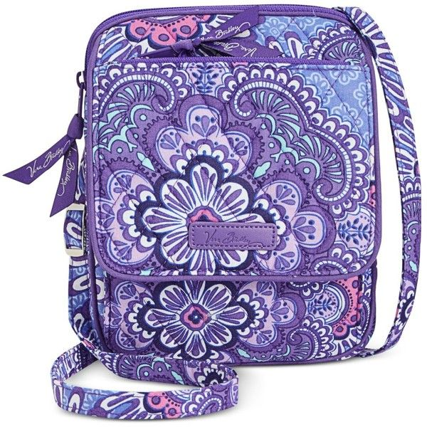 Vera Bradley Signature Mini Hipster Crossbody ($36) ❤ liked on Polyvore featuring bags, handbags, shoulder bags, lilac tapestry, purple shoulder bag, vera bradley handbags, crossbody handbag, tapestry purse and crossbody purse