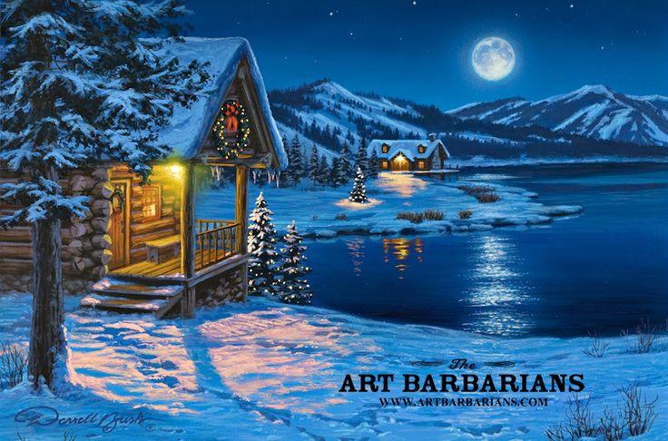 Christmas In A Log Cabin Wildlife Art Prints Plus