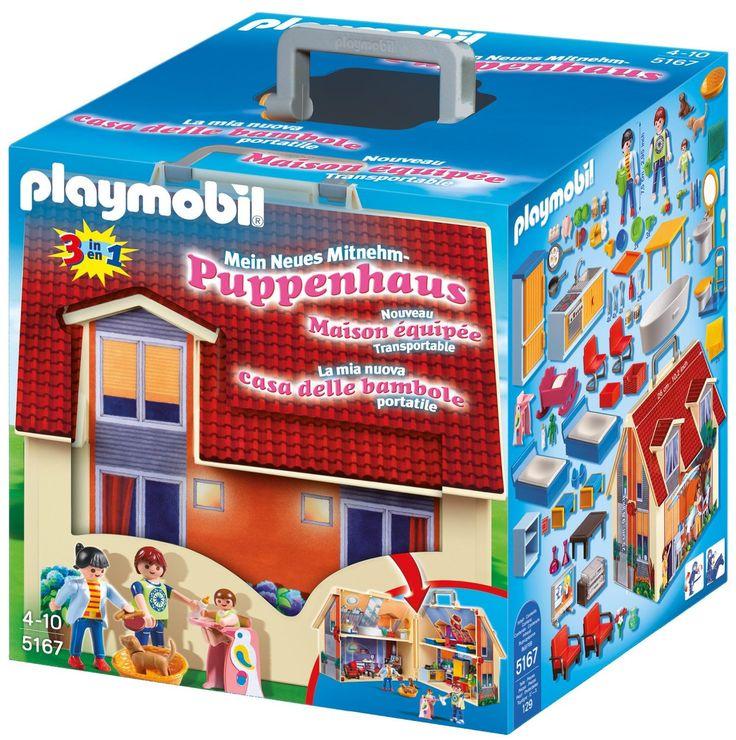 Playmobil 5167 - Mein Neues Mitnehm-Puppenhaus: Amazon.de: Spielzeug