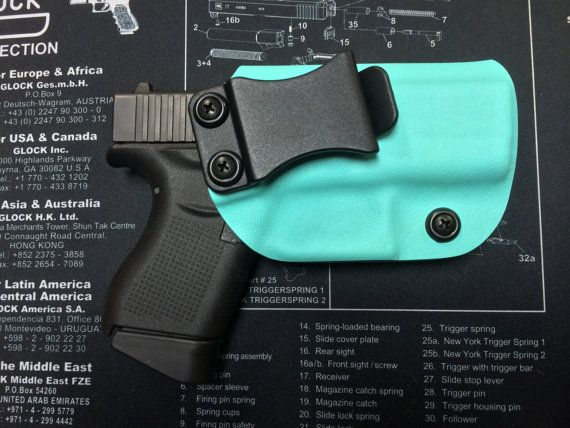 Glock 43 9mm Custom Kydex Holster Blue / IWB / by BRHOLSTERS