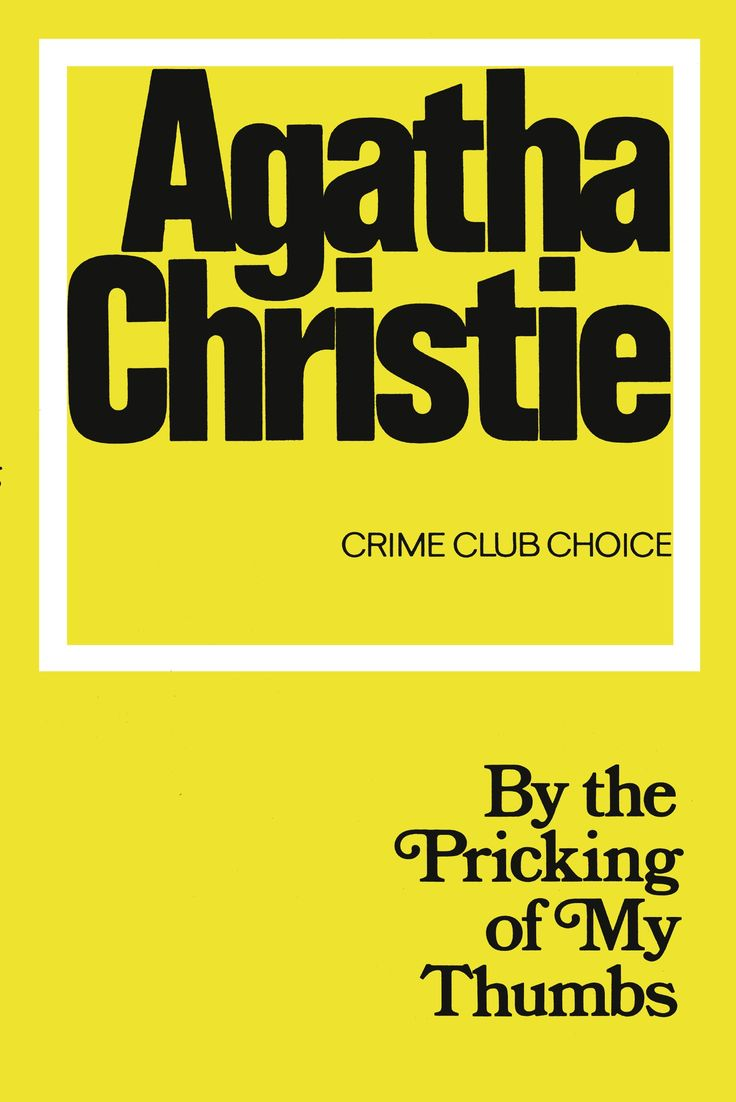 literary analysis of the novel by the pricking of my thumbs by agatha christie Read a summary at webbiographycom of by the pricking of my thumbs by the author agatha christie buy it from amazoncom.