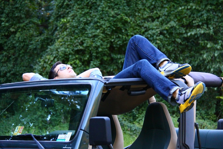 Jammock - Its a jeep cover that can be used like a hammock. I might have to look into this!