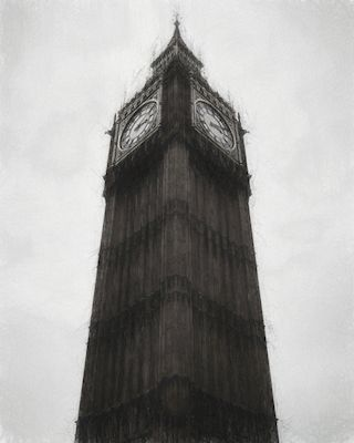 Incredible photograph of Big Ben in London, edited for a more interesting shot. Photograph and editing by Jonas Anhede, available as poster at printler.com, the marketplace for photo art.