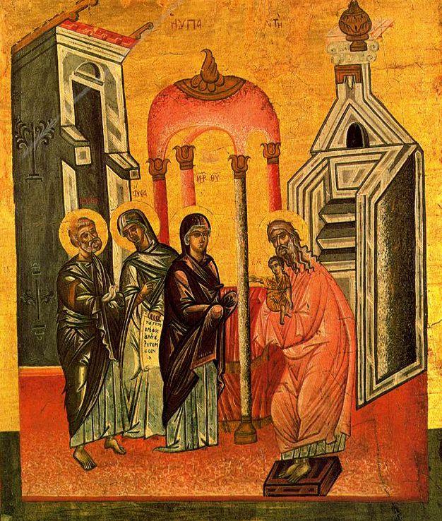 Presentación de Jesús en el Templo. Siglo XVIII. Venerable Archicofradía de la Purificación. Livorno.