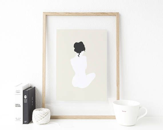 Gallery Wall Decor Modern Nude Figure Art Female Silhouette