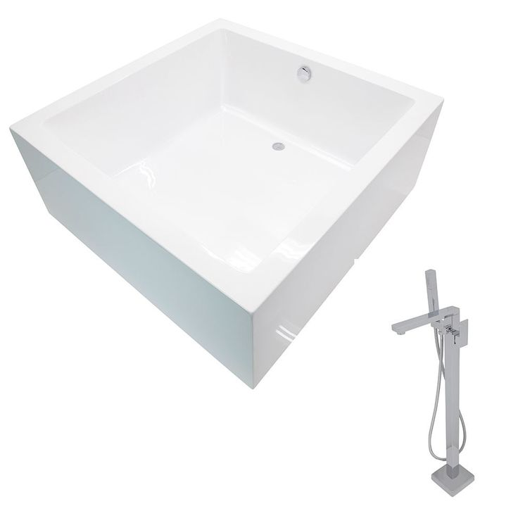 Anzzi Apollo 4.6 ft. Classic Freestanding Flatbottom Non-Whirlpool Bathtub in and Dawn Faucet in Chrome
